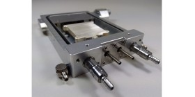 Hot plate with gas flow